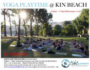 yoga at kin beach vernon bc july 2021